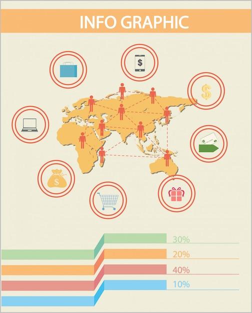 Eine infografik der menschen Kostenlosen Vektoren