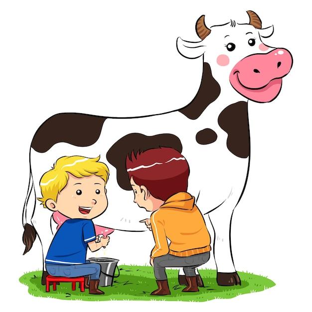 Eine kuh melken 7814 28