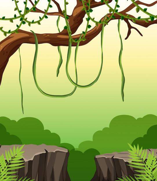 Eine naturklippenlandschaft Kostenlosen Vektoren