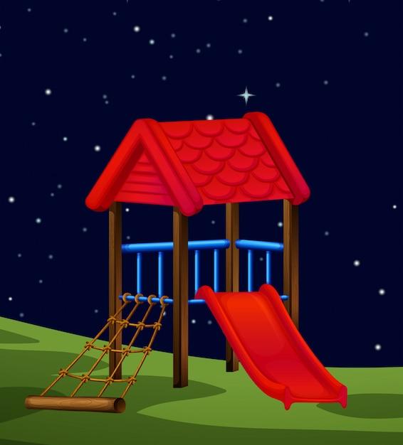 Eine naturszene bei nacht Kostenlosen Vektoren