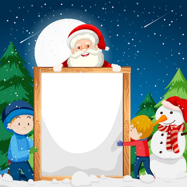 Eine weihnachtsanmerkungsschablone Kostenlosen Vektoren