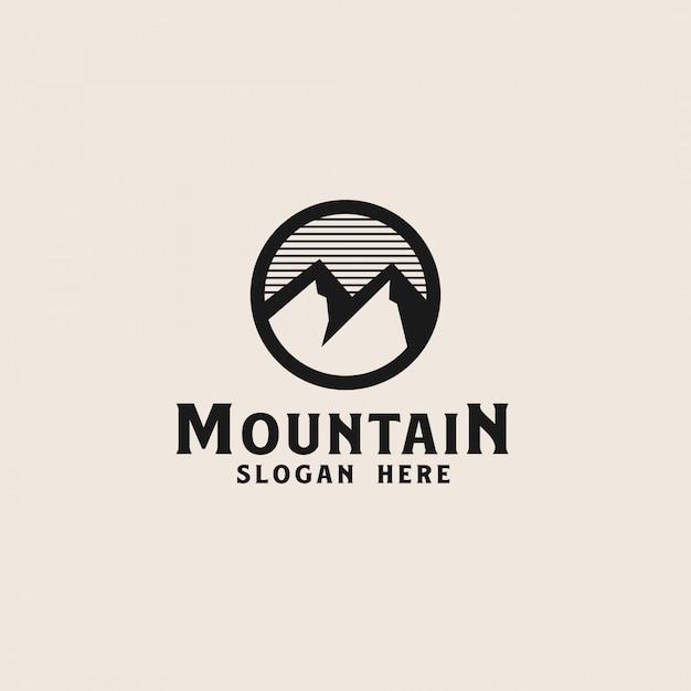 Einfache berglogo-vorlage. vektorillustration Premium Vektoren