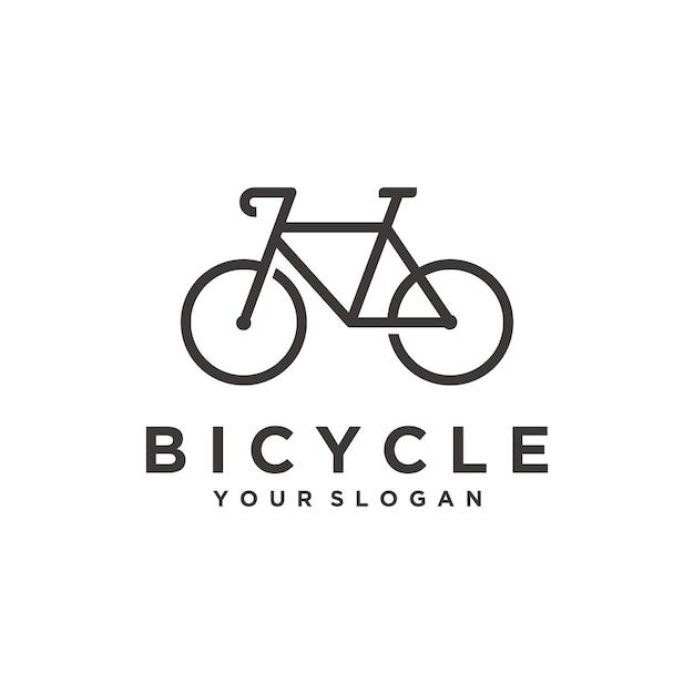 Einfache fahrrad-logo-vorlage Premium Vektoren