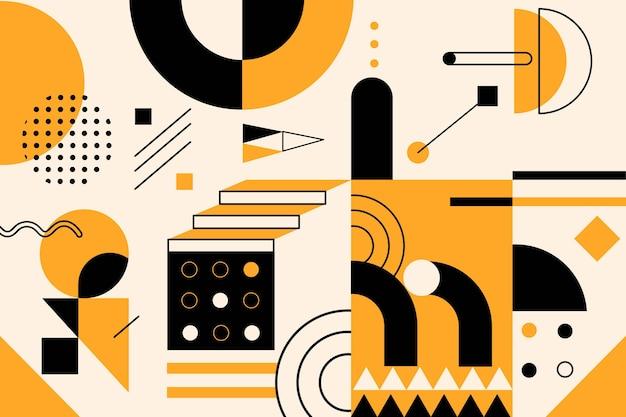 Einfache geometrische elemente in flachem design Kostenlosen Vektoren