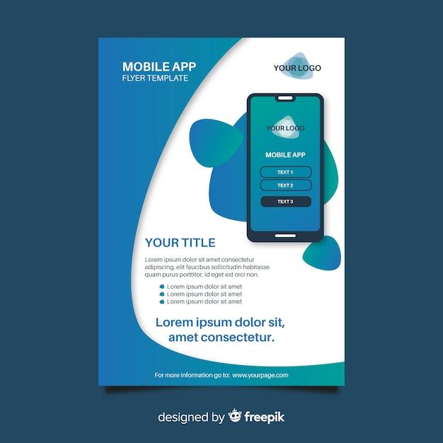 Einfache mobile app-vorlage Kostenlosen Vektoren