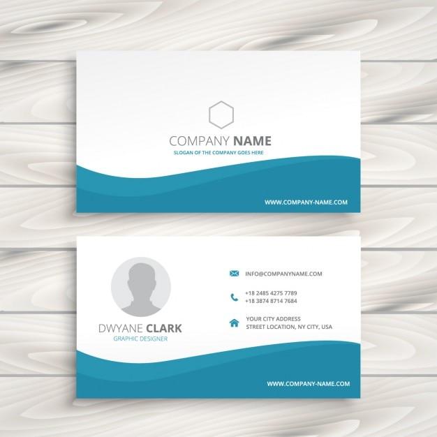 Einfache Saubere Visitenkarte Download Der Kostenlosen Vektor