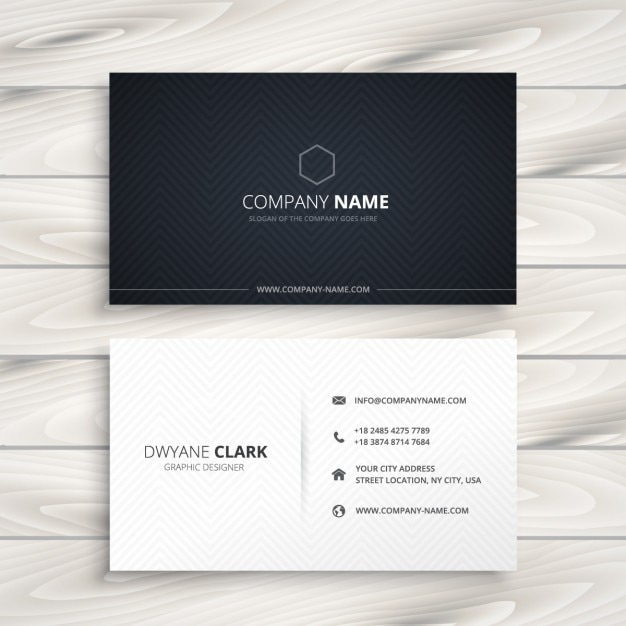 Einfache Visitenkarte Schwarz Weiß Kostenlose Vektor