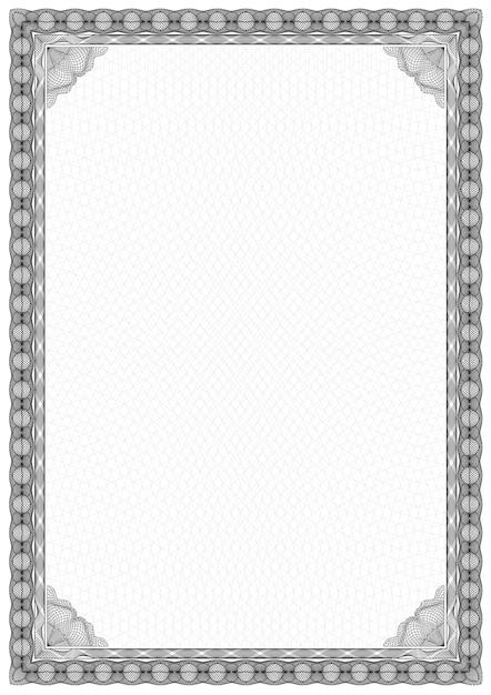 Einfacher Schwarz-Weiß-Zertifikat Rahmen Grenze. | Download der ...