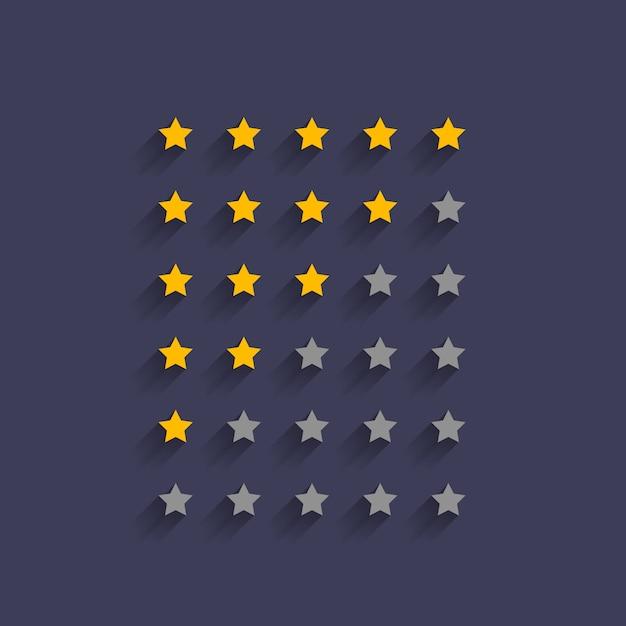 Einfacher sternbewertungs-symboldesign Kostenlosen Vektoren