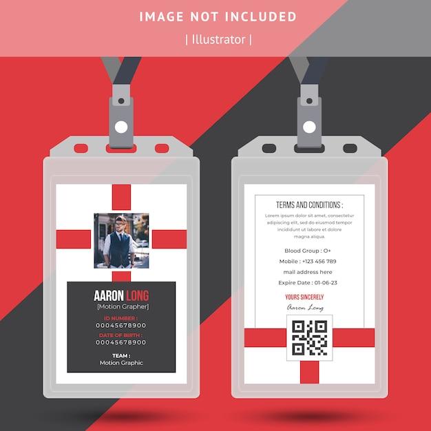 Einfaches ausweisdesign Premium Vektoren