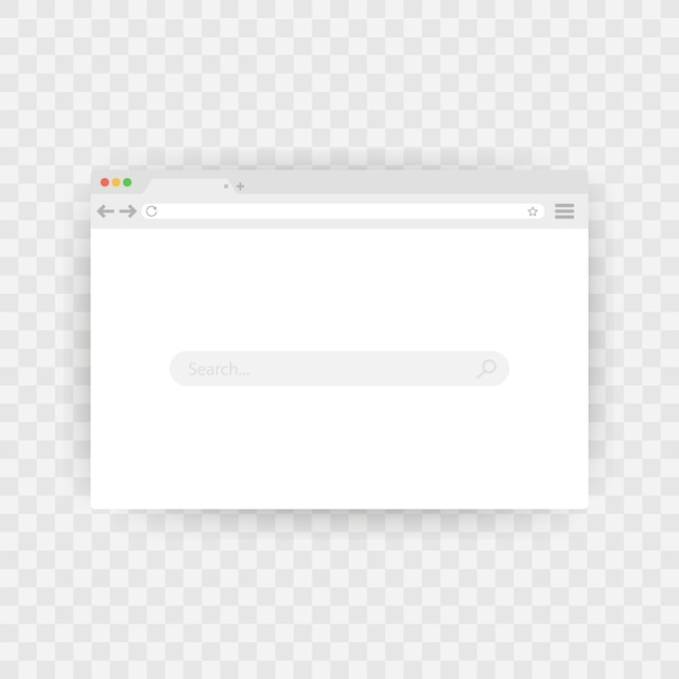 Einfaches browserfenster Premium Vektoren