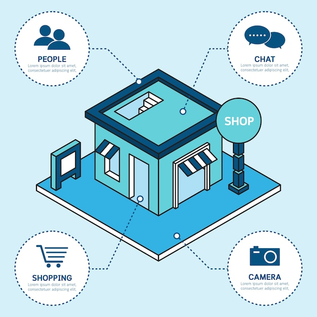 Einfaches Geschäft, das infographic Schablone errichtet | Download ...