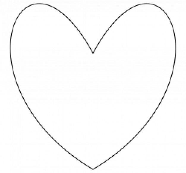 Einfaches Herz | Download der kostenlosen Vektor