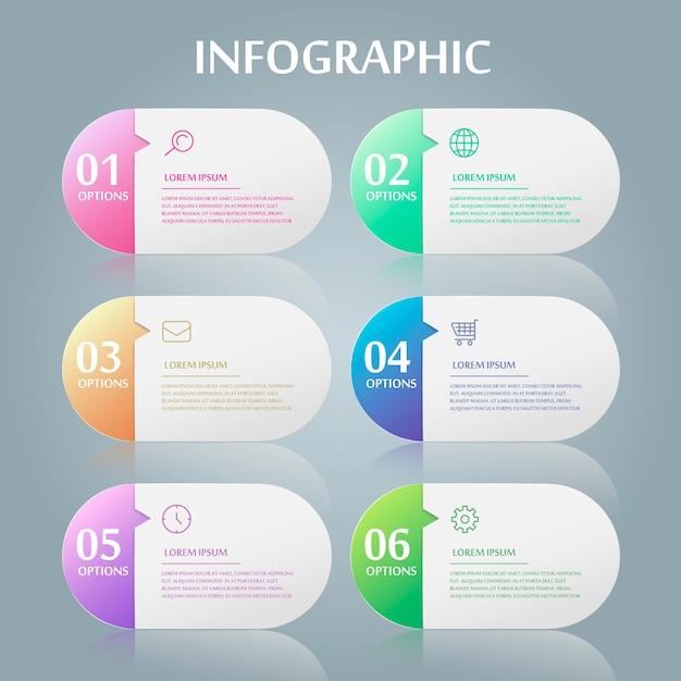 Einfaches infografik-design mit sprechblasenelementen Premium Vektoren