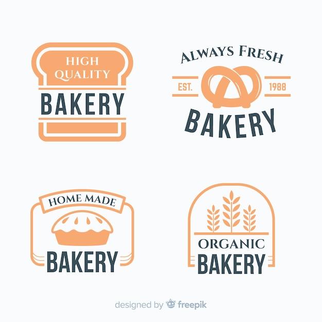 Einfaches logo für die bäckerei Kostenlosen Vektoren
