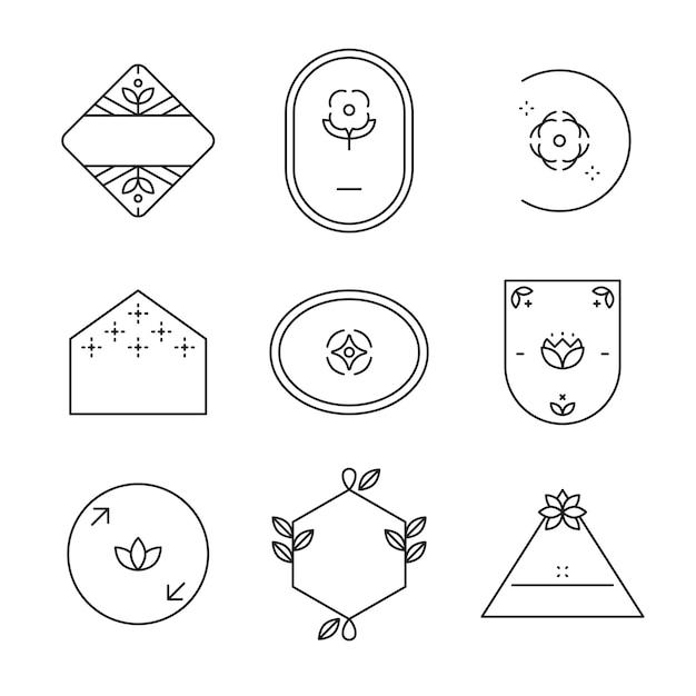 Einfaches logo-set Kostenlosen Vektoren