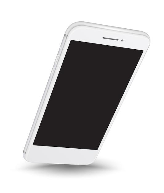 Einfaches platzieren des smartphone-modells auf dem bildschirm Premium Vektoren
