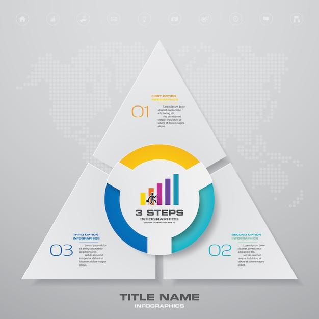 Einfaches und editierbares prozessdiagramm. Premium Vektoren