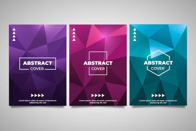 Einfarbige abstrakte geometrische abdeckungspolyansammlung Kostenlosen Vektoren