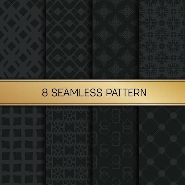 Einfarbiger geometrischer musterhintergrundsatz. Premium Vektoren