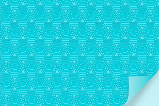 Einfarbiges blaues muster mit formen Kostenlosen Vektoren