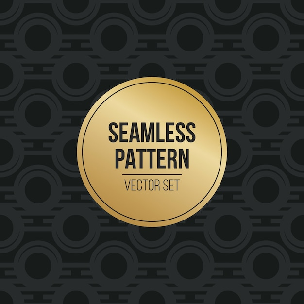 Einfarbiges geometrisches muster Premium Vektoren