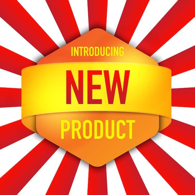 Einführung eines neuen produkthintergrunddesigns Premium Vektoren