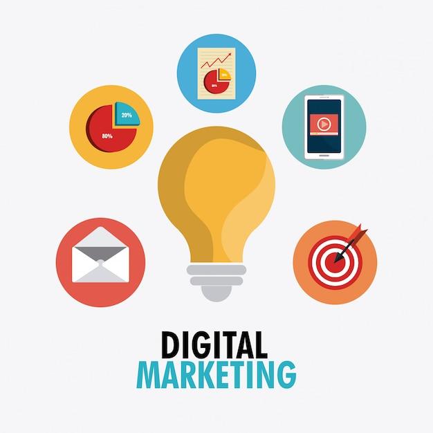 Einkaufen, e-commerce und marketing Kostenlosen Vektoren