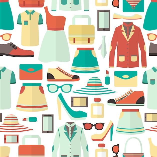 Einkaufen nahtlose muster Kostenlosen Vektoren