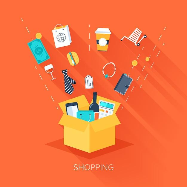 Einkaufen Premium Vektoren