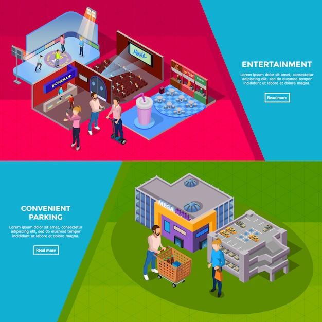 Einkaufszentrum banner Kostenlosen Vektoren