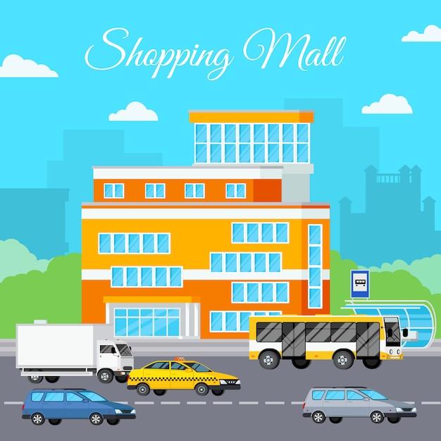 Einkaufszentrum urban composition Kostenlosen Vektoren