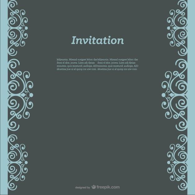 Einladung swirly Design  Download der kostenlosen Vektor