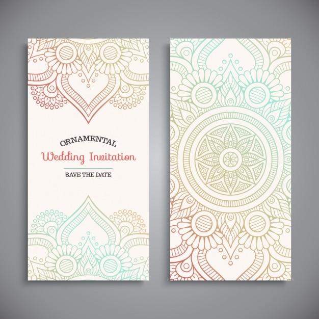 Einladung zur Hochzeit Design  Download der kostenlosen Vektor
