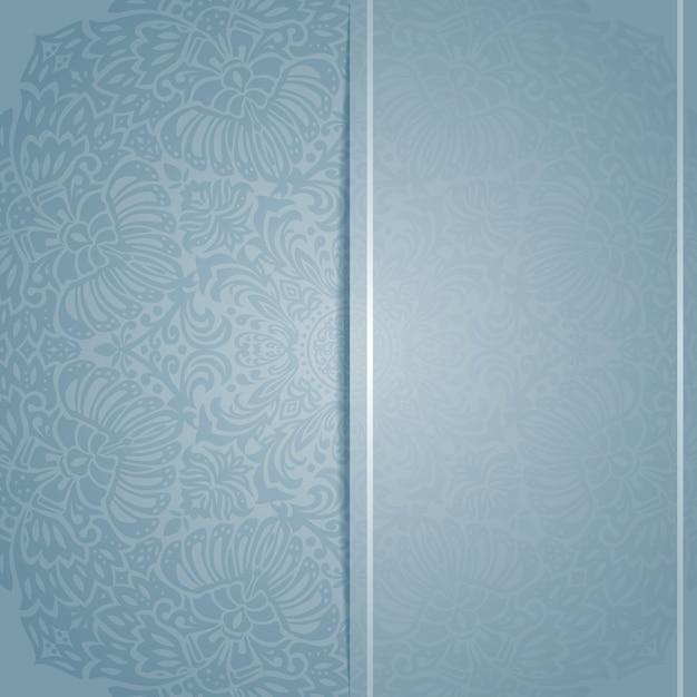 Einladungskarte vorlage mit floralem patern ornament Premium Vektoren