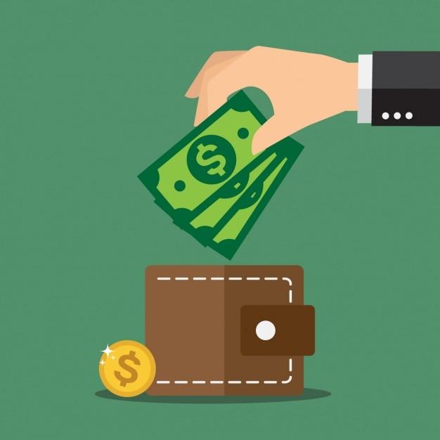 Einsparungen hintergrund-design Kostenlosen Vektoren