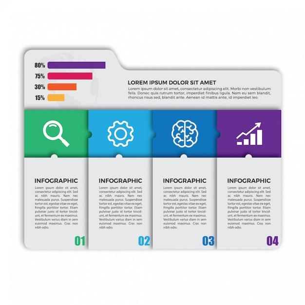 Einzigartige infographik designvorlage Premium Vektoren