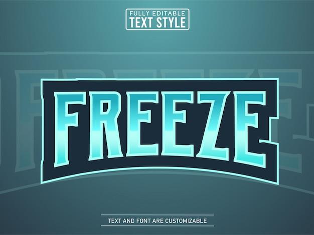 Eis frieren coolen modernen esport logo texteffekt ein Premium Vektoren