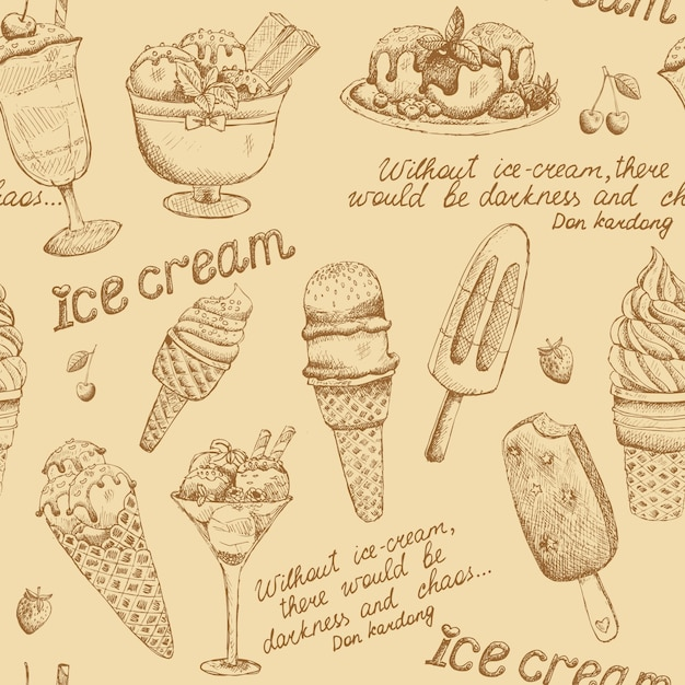 Eis vintage muster Kostenlosen Vektoren