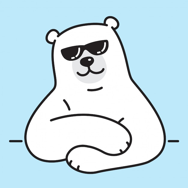 Eisbär sonnenbrillen Premium Vektoren