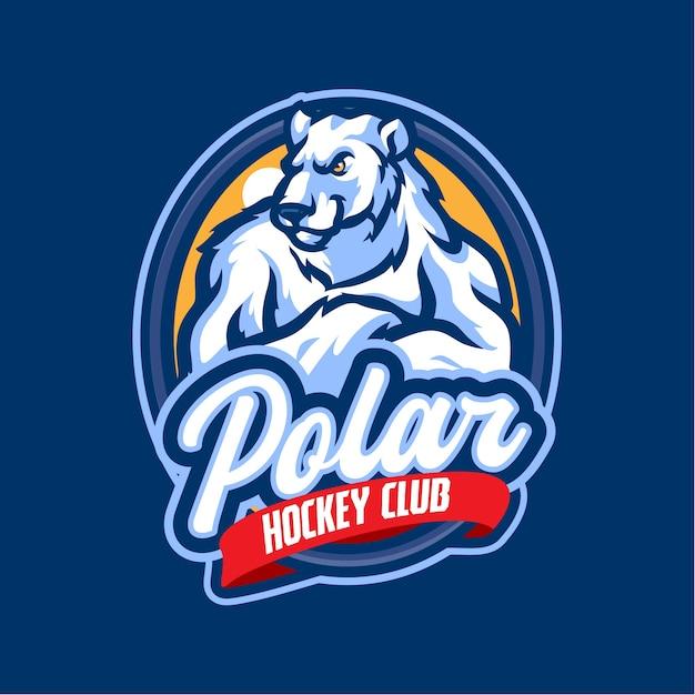 Eisbären-maskottchen-logo für das esport- und sportteam Premium Vektoren
