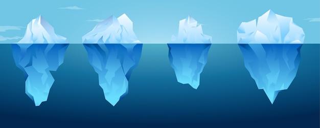 Eisbergsammlung Kostenlosen Vektoren