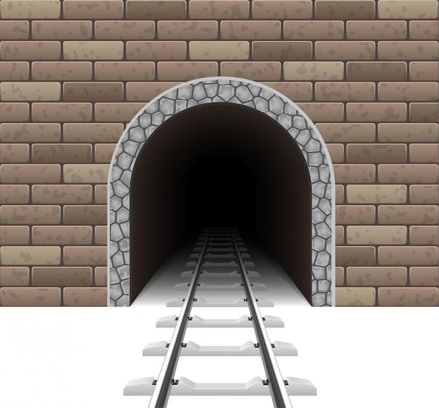 Eisenbahntunnel vektor-illustration Premium Vektoren