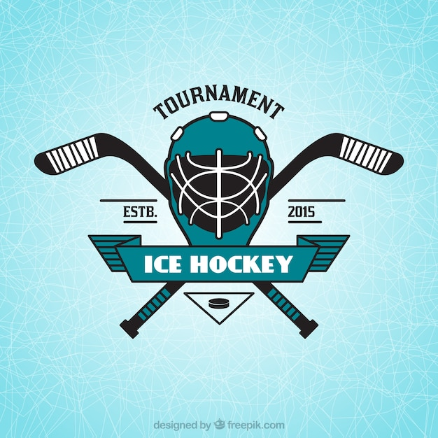 Eishockey-insignien Kostenlosen Vektoren