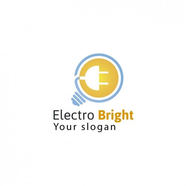 Electric company logo-vorlage Kostenlosen Vektoren