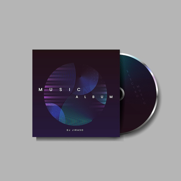 Electro-musikalbum Kostenlosen Vektoren