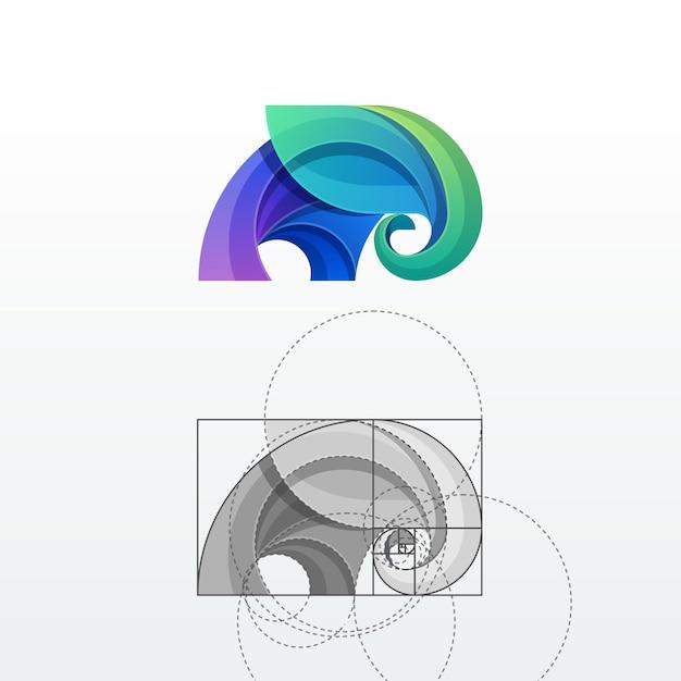 Elefant-abstrakter vektor logo template Premium Vektoren