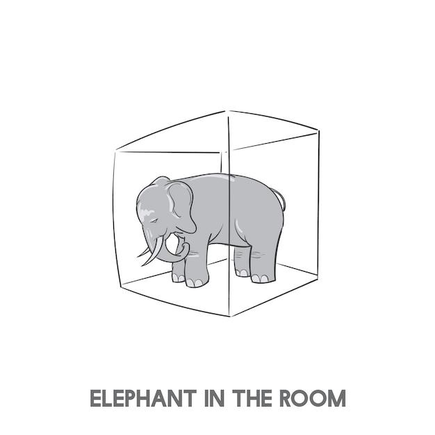 Elefant im raum Kostenlosen Vektoren