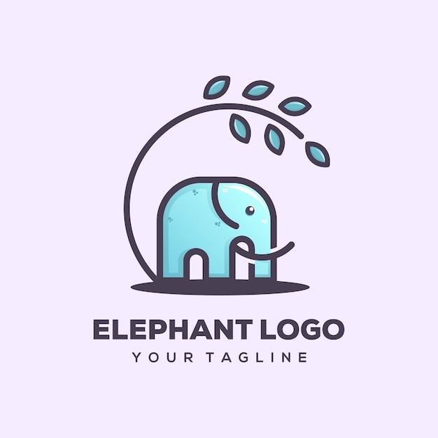 Elefant-logo-vorlage Premium Vektoren