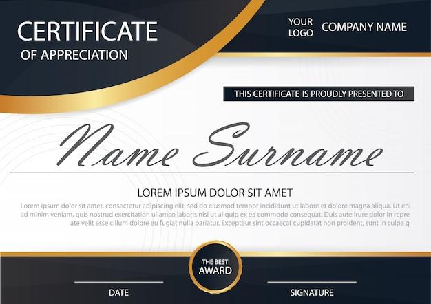 Elegance horizontale Zertifikat mit Vektor-Illustration, weißen ...